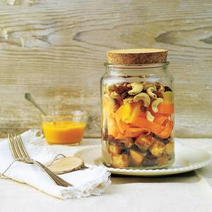 Auberginen-Cashewkern-Salat