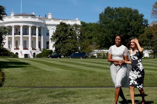 Zwei, die sich verstanden haben. Zwei, die die Begeisterung für Sport und frische Luft teilen - und auch verbreiten wollen: First Lady Michelle Obama und Königin Letizia während des Staatsbesuchs der Spanier in den USA im September 2015.
