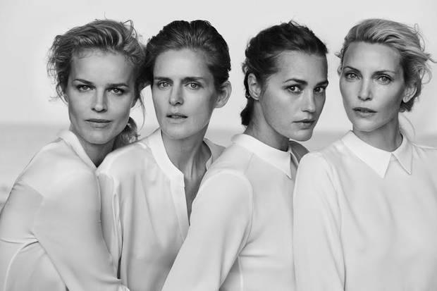 Yasmin Le Bon, Eva Herzigova, Nadja Auermann und Stella Tennant gehörten in den Neunzigerjahren zu den Großverdienern der Branche. Fotograf Peter Lindbergh hatte sie seitdem häufig vor der Kamera