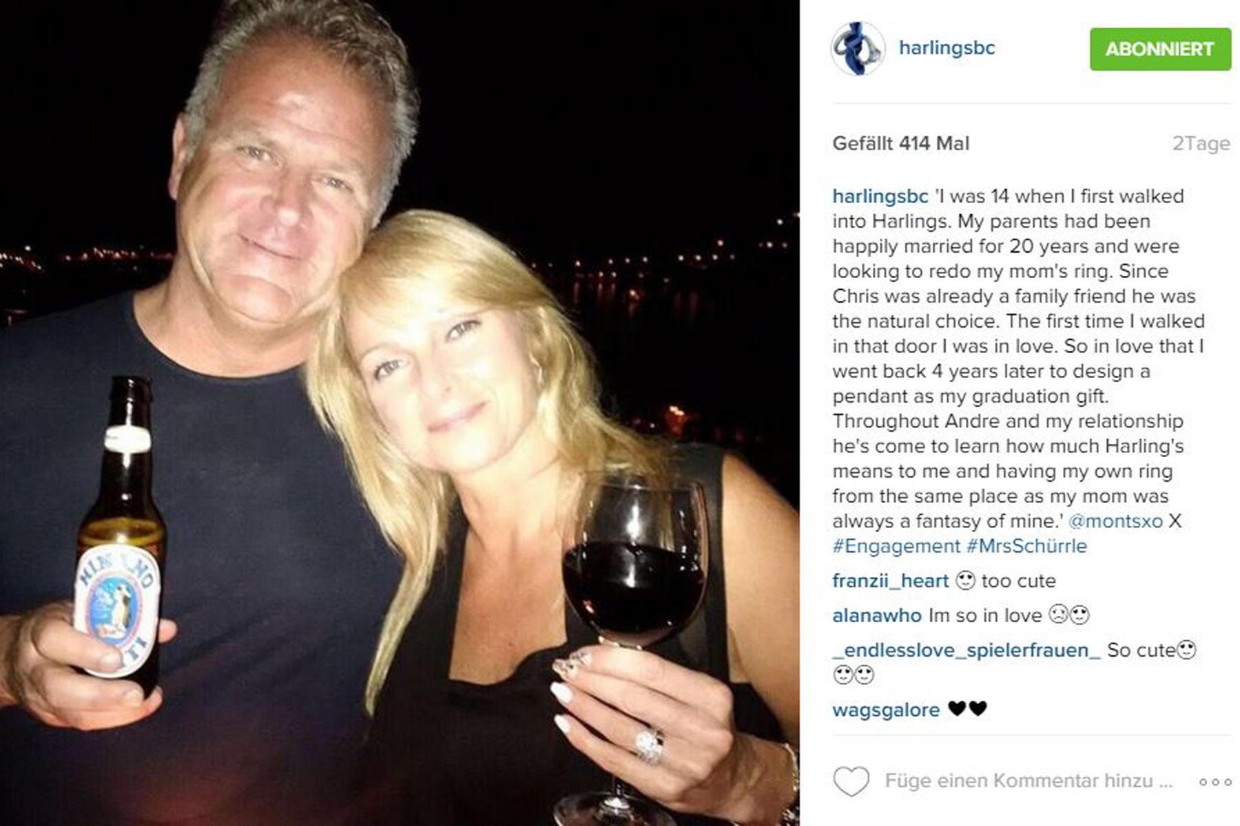 Familientradition: Schon Steve und Susan Yorke, die Eltern von Montana, scheinen ihre Eheringe bei Harling ?s Jewellers gekauft zu haben.