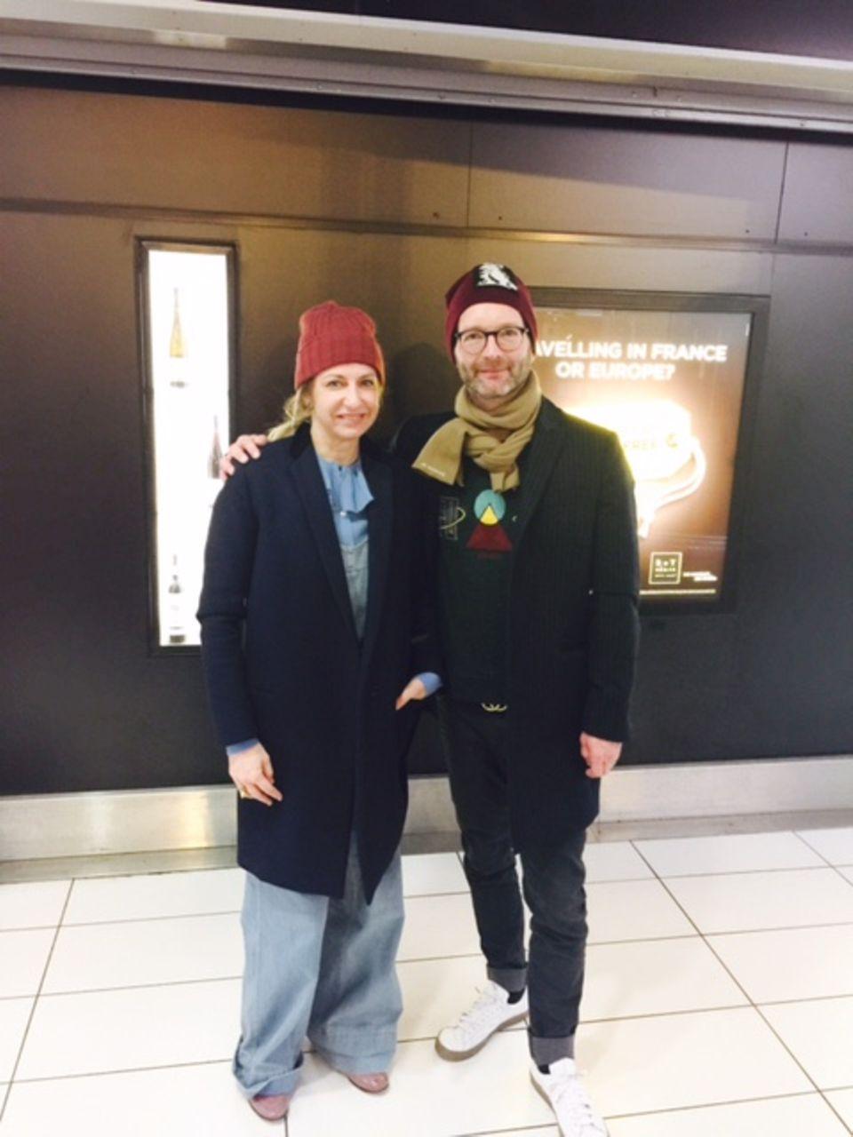 Double Trouble in Paris: Sue Giers und GALA-Modechef Marcus Luft