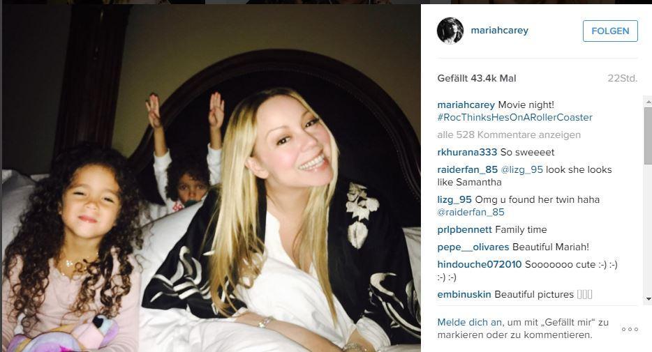 Mariah Carey mit ihren Zwillingen Monroe und Moroccan
