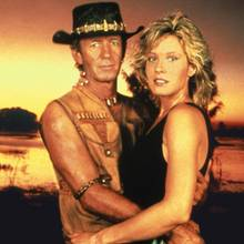 "Paul Hogan, Linda Kozwloski in ""Crocodile Dundee"""