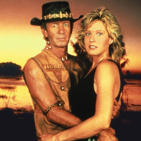 """Paul Hogan, Linda Kozwloski in """"Crocodile Dundee"""""""