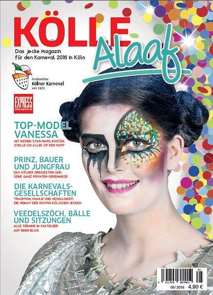 """Vanessa Fuchs auf dem Cover des Express-Jecke-Magazins """"Kölle Alaaf"""""""