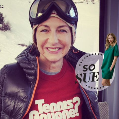 "Sue ""Skihase"" Giers in St. Moritz"