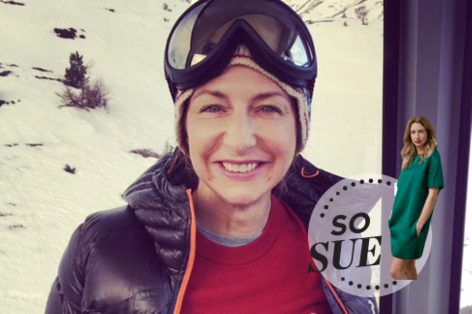 "Sue ""Skihase"" Giers in St. Moritz"