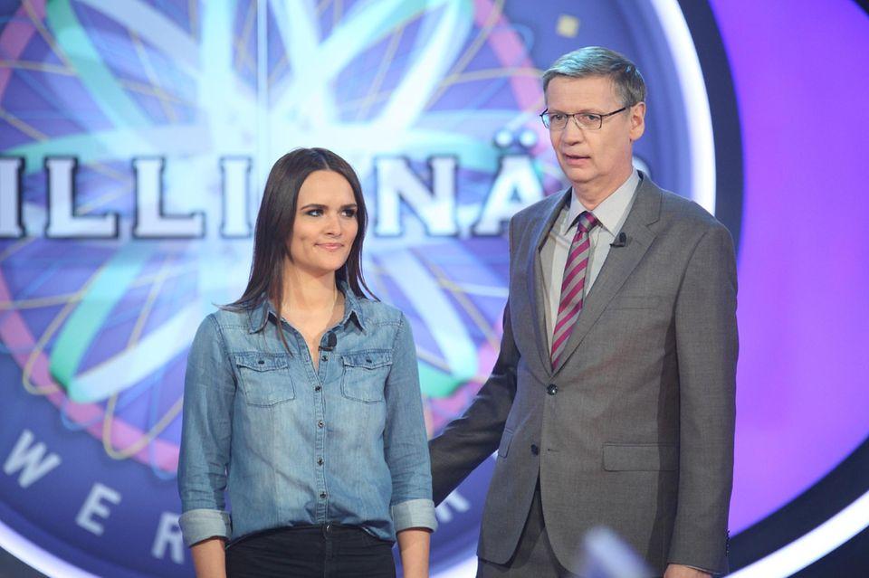 Anika Schöning und Günther Jauch