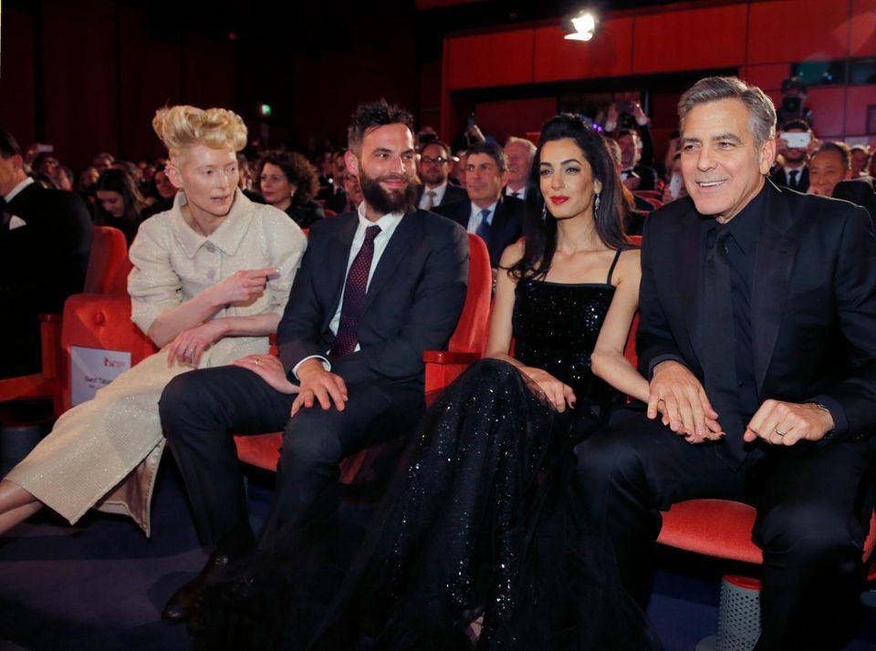 Amal Clooney, George Clooney, Tilda Swinton, Sandro Kopp