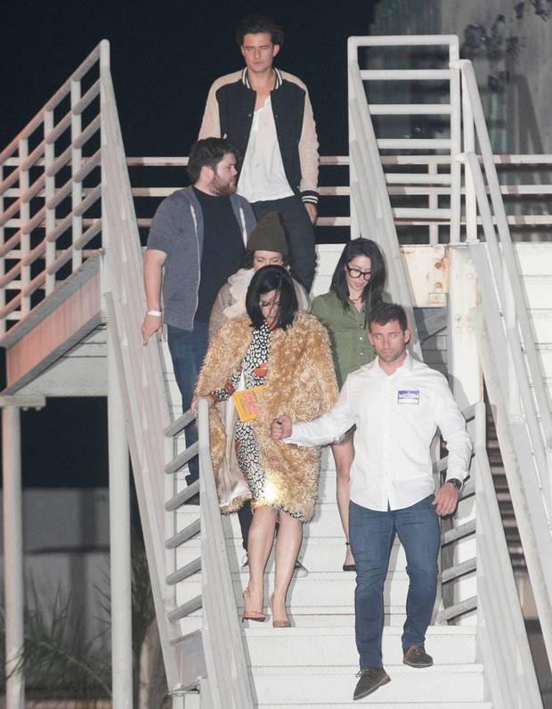 Katy Perry (vorn links) und Orlando Bloom befeuern weiter die Pärchengerüchteküche.