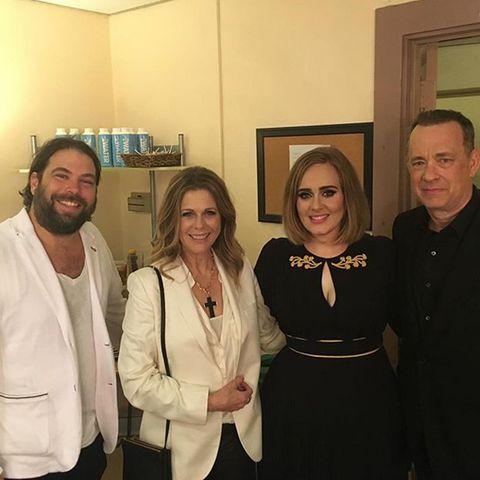 Simon Konecki, Rita Wilson, Adele, Tom Hanks