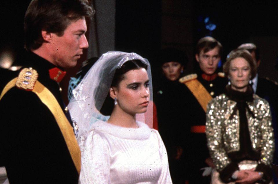 Großherzog Henri und Großherzogin Maria Teresa bei ihrer Hochzeit am 14. Februar 1981