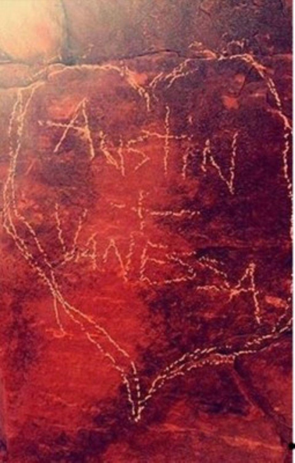 Das Beweisfoto für die Felsenritzerei hat Vanessa Hudgens mittlerweile gelöscht