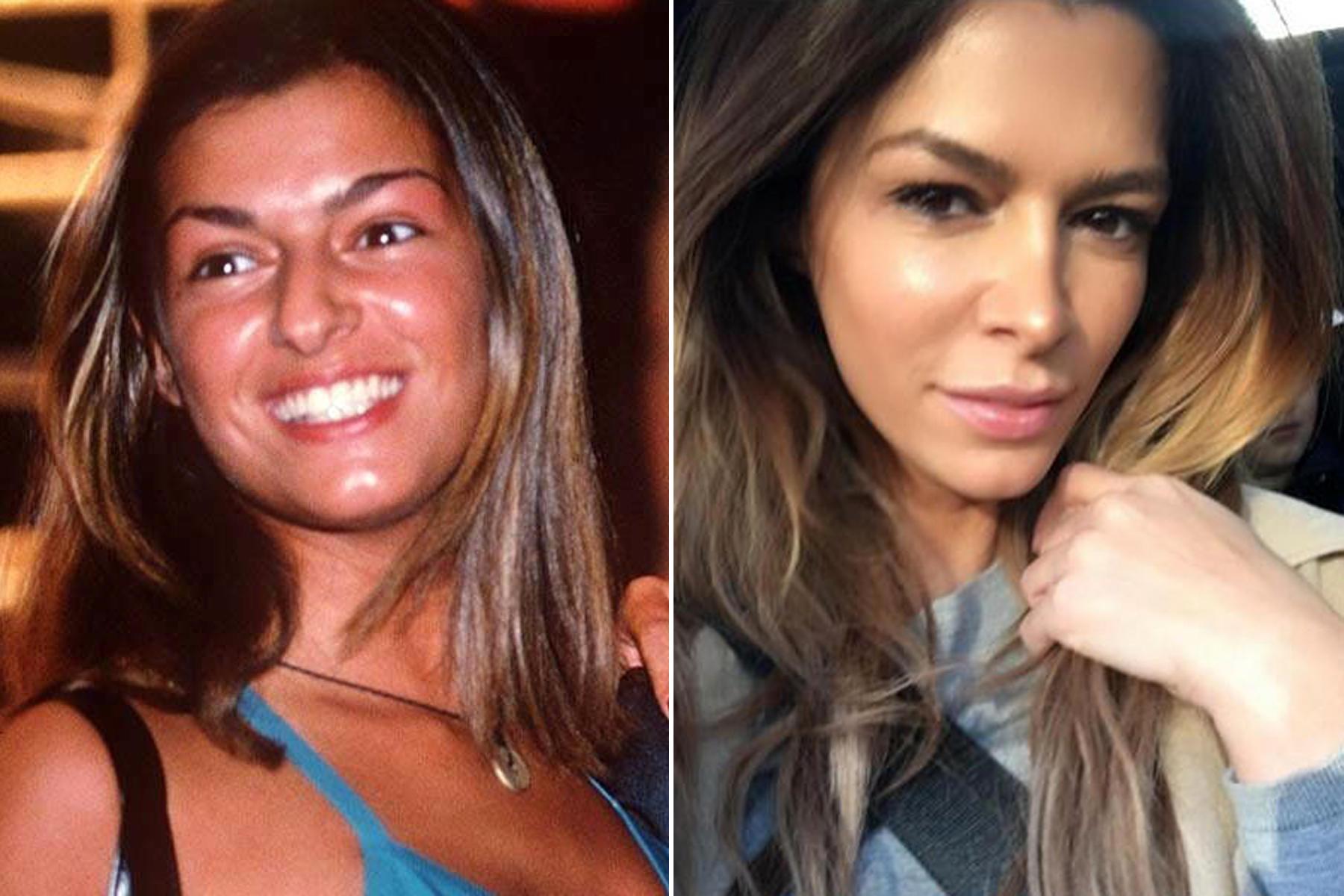 Was für eine irre Verwandlung: Zwischen 1997 (links) und Februar 2016 (rechts) hat Sabia Boulahrouz offensichtlich mehrere Male einen Beauty-Doc aufgesucht.