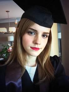 Emma Watson hat 2014 ihren Uni-Abschluss in englischer Literatur an der Brown-Universität gemacht