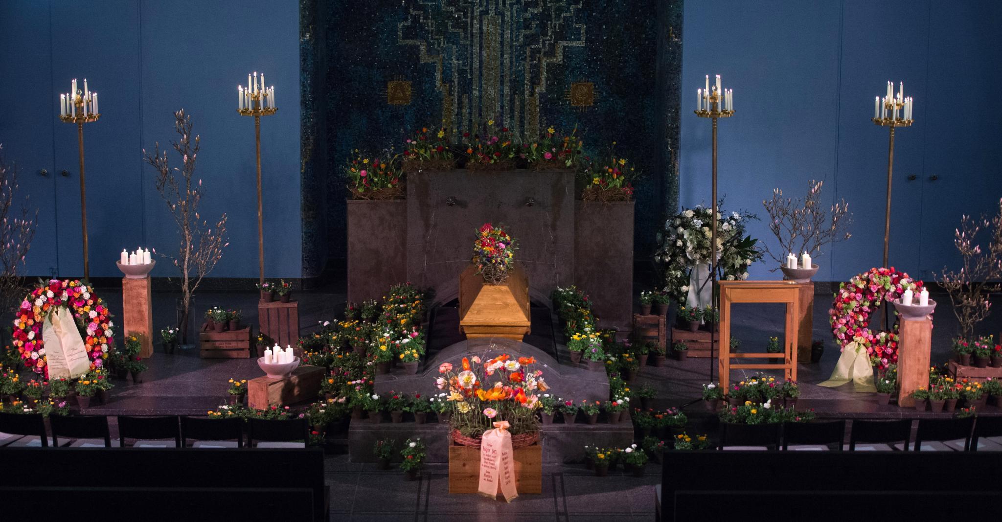 Roger Willemsen Beerdigung