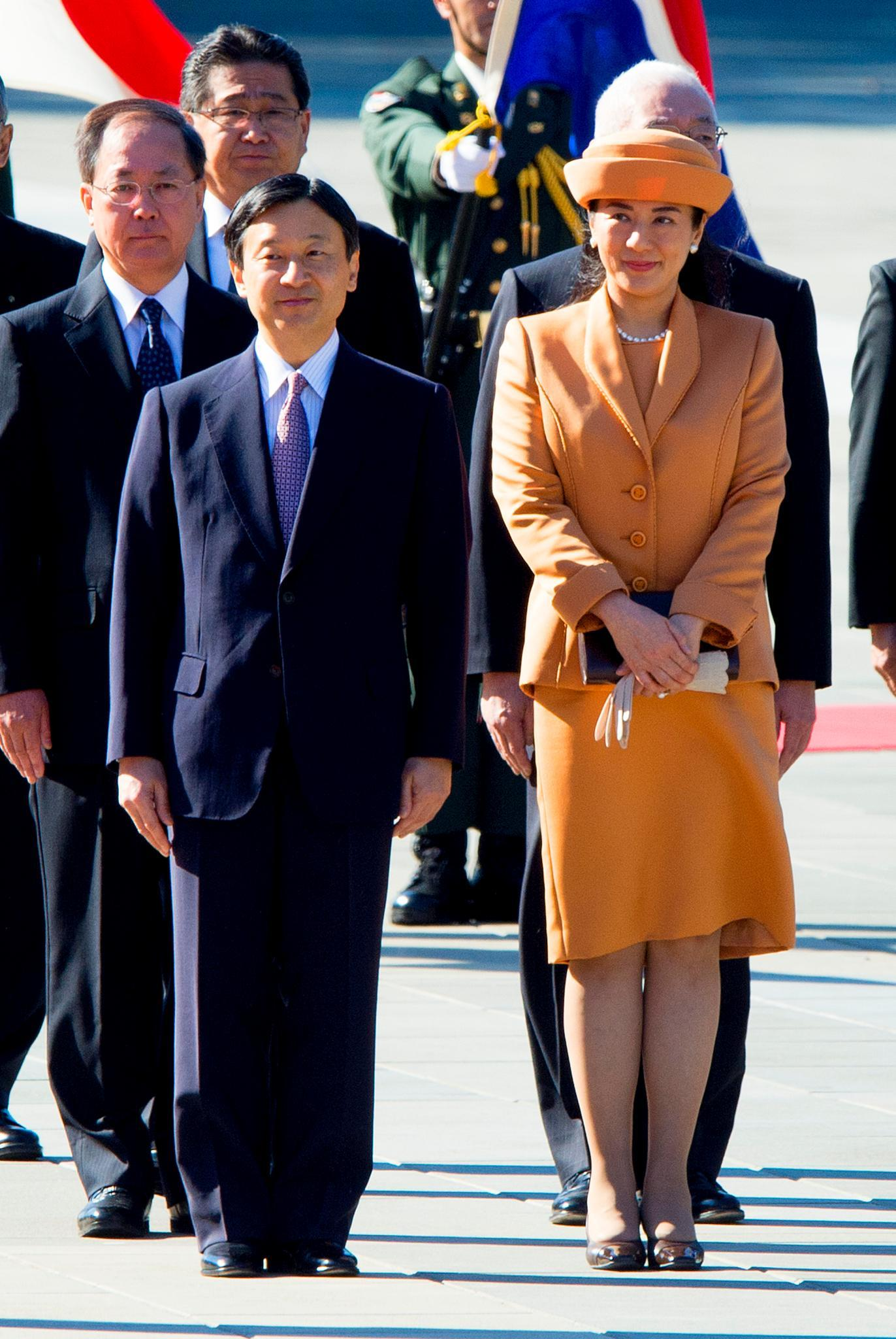 Prinz Naruhito und Prinzessin Masako bei einem ihrer seltenen gemeinsamen Auftritte