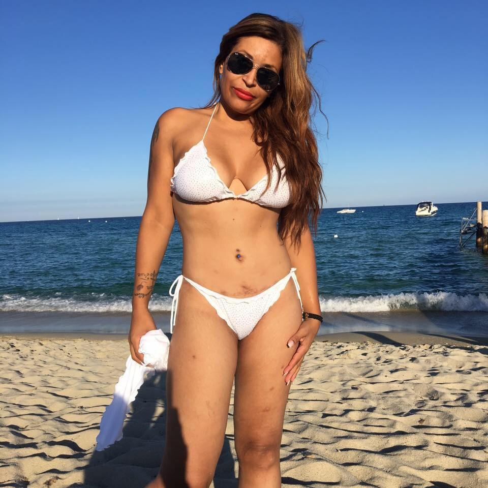 Auf Facebook präsentiert sich Patricia Blanco stolz im Bikini.