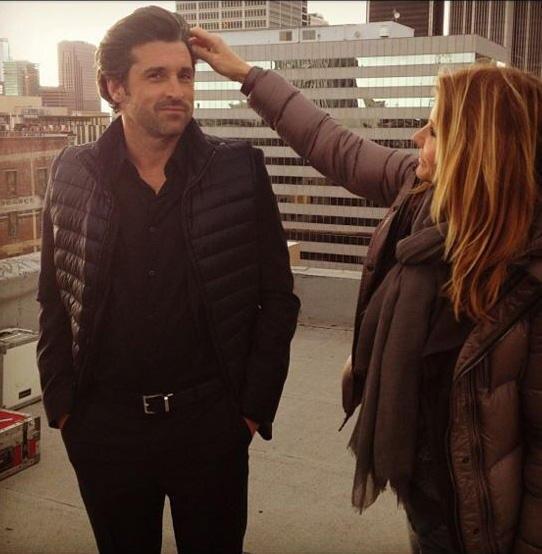 Schönes Haar, schönes Paar: Nach einigen Turbulenzen sieht man Patrick und Jillian jetzt wieder Seite an Seite