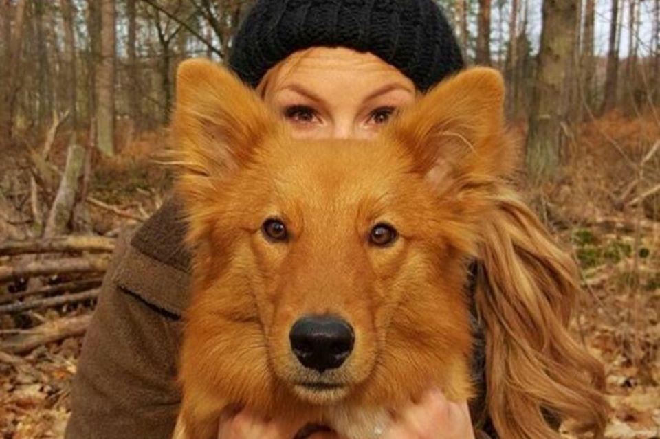 Jana Kilka und Hund Rudi