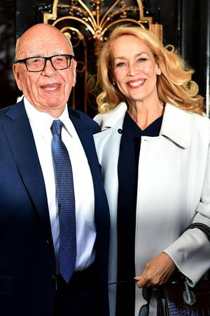Rupert Murdoch, Jerry Hall