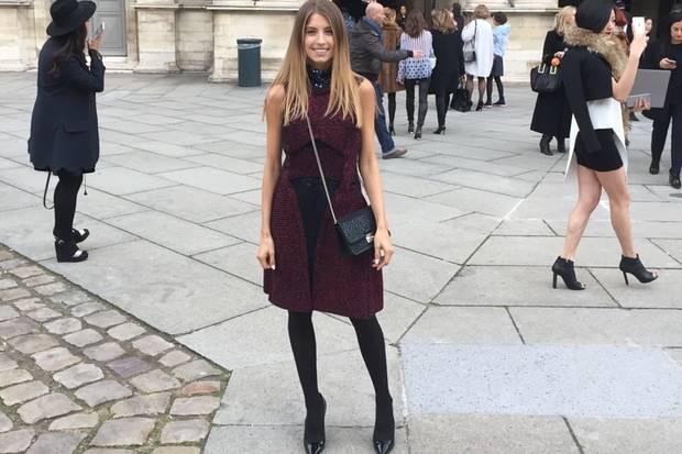 """Cathys Outfit für die Show des französischen Kultlabels Dior. """"Kurz vor der Show, ich bin überglücklich."""""""
