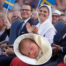 Prinz Daniel + Prinzessin Victoria mit Prinz Oscar