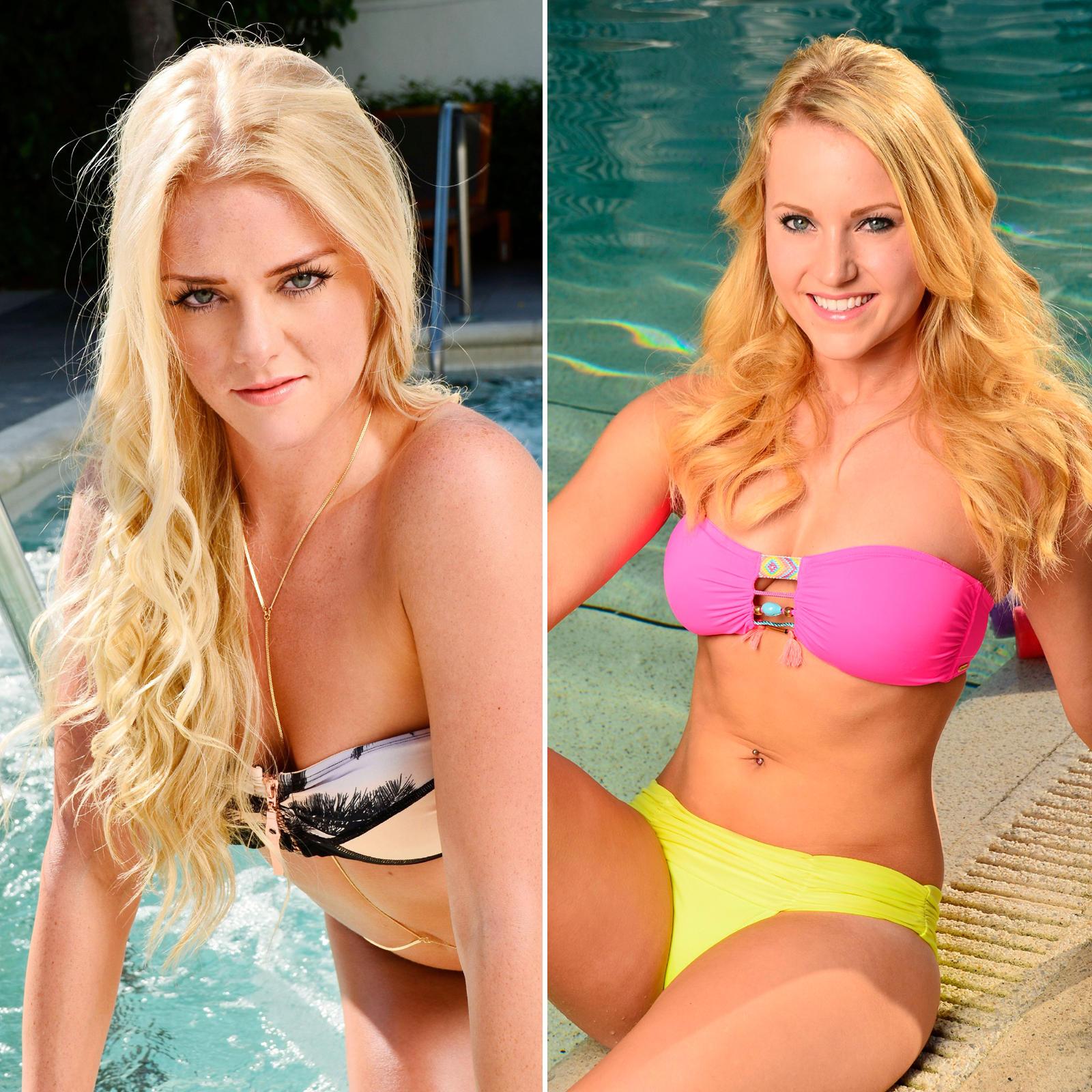 """Bereits vor Beginn der """"Bachelor""""-Sendungen wurden Daniela und Leonie in farbenfrohen Bikinis fotografiert. Ob Danis frickelige Körperkette nicht vielleicht eine ernste Lebensgefahr darstellt, sei dahingestellt. Der Neon-Indianer-Look von Leonie ist schließlich auch nicht viel besser."""