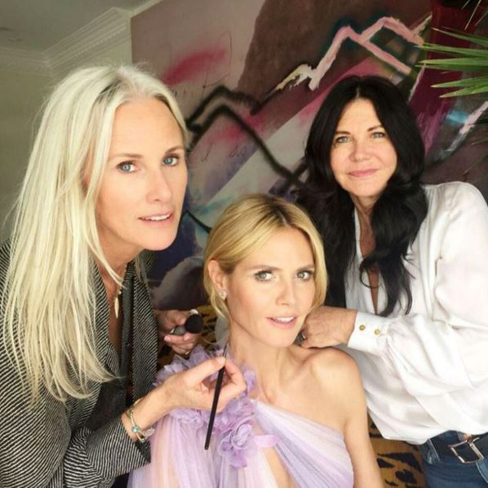 Wendy Iles und Linda Hay stylen Heidi Klum für die Oscars.