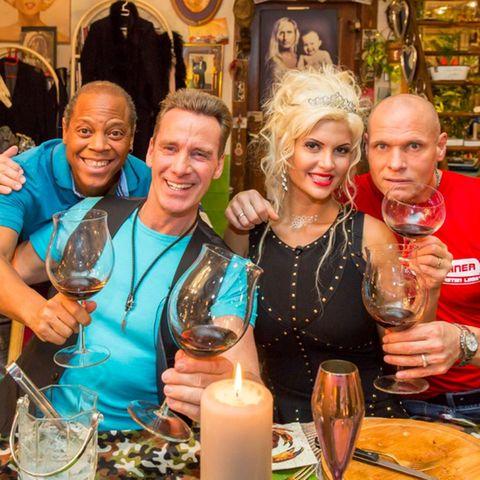 Das perfekte Promi-Dinner, Dschungel Spezial, Ricky Harris, Jürgen Milski, Sophia Wollersheim, Thorsten Legat.