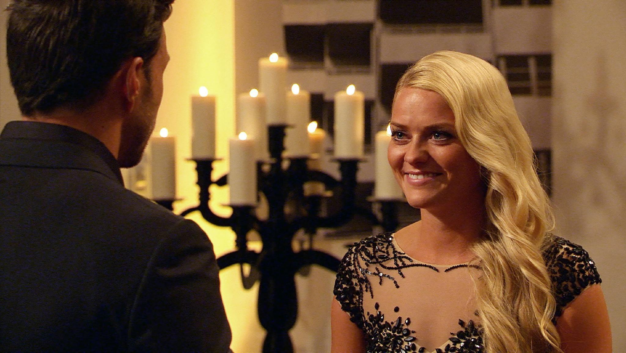 """Kurz nach diesem Schnappschuss verging """"Bachelor""""-Finalistin Daniela das Lachen."""