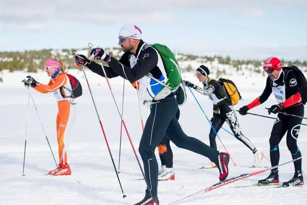 Prinz Haakon erzielt im Rennen gegenüber Prinz Frederik zwar die bessere Zeit, startet allerdings auch in einer anderen Alterklasse. Und keiner der beiden Royals landete auf dem Siegertreppchen.