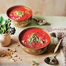 Rote-Bete-Süßkartoffel-Suppe
