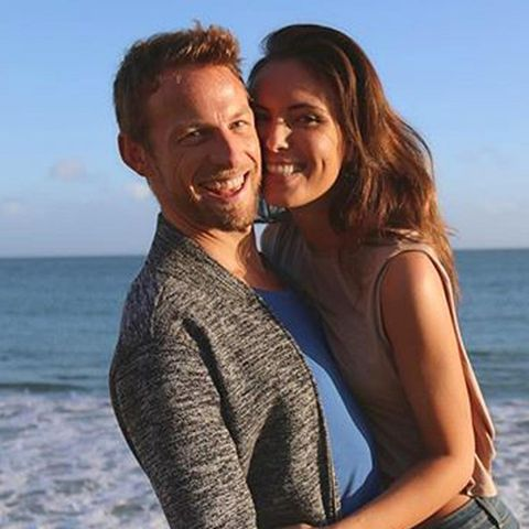 Jenson Button + Brittny Ward