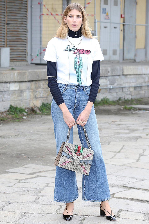 """It-Girls wie hier Veronika Heilbrunner lieben die """"Dionysus Bag"""", die neueste It-Bag aus dem Hause Gucci."""