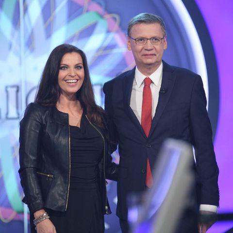 Günther Jauch mit WWM-Kandidatin Alexandra Philipps