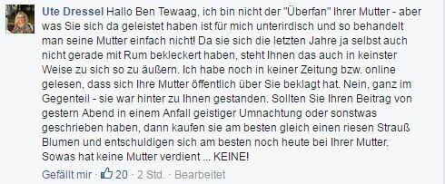 Ben Tewaag: Eskalation nach Pöbel-Post