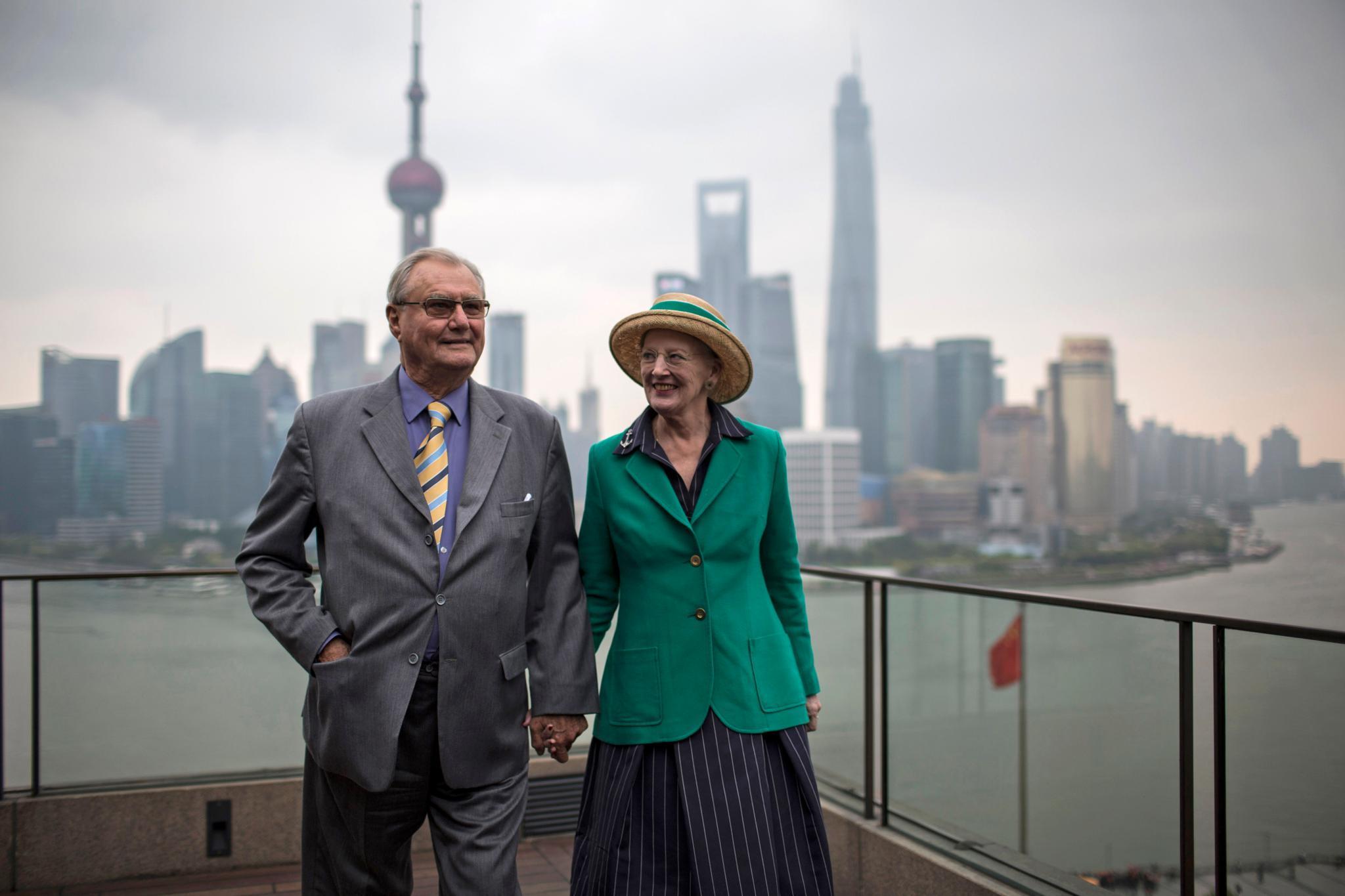 Prinz Henrik + Königin Margrethe 2014 in Shanghai