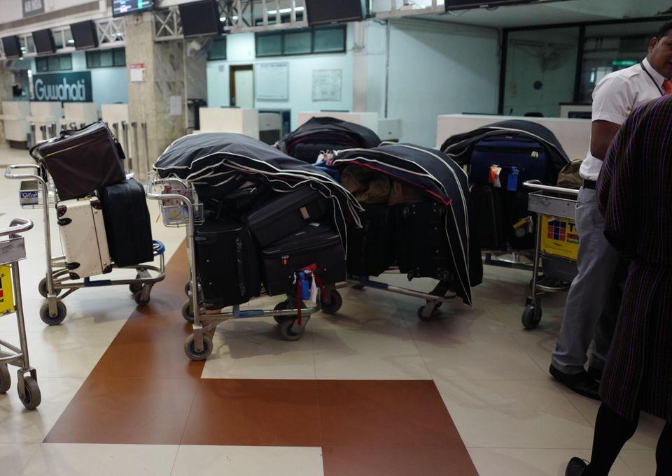 Da kommt einiges zusammen: das Gepäck von Herzogin Catherine und Prinz William