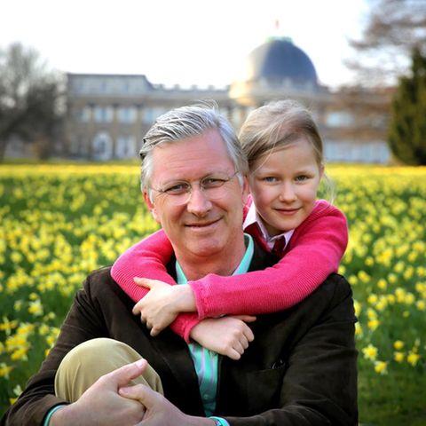 König Philippe und seine Tochter Eléonore
