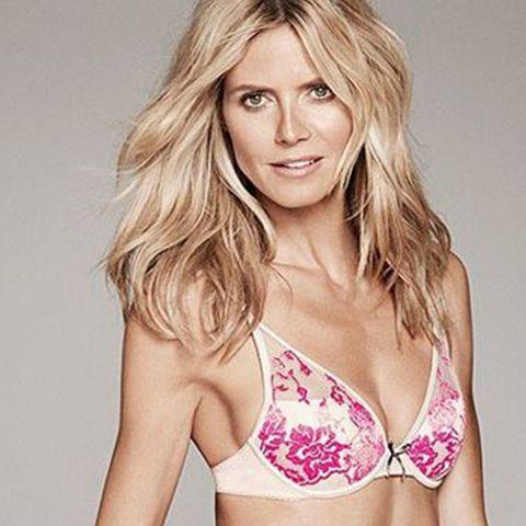 Topmodel Heidi Klum in ihrer eigenen Dessous-Linie