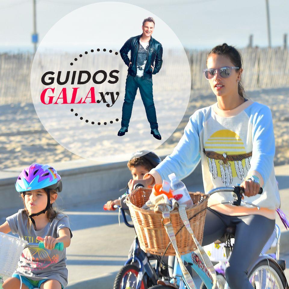 Alessandra Ambrosio und Tochter Anja machen eine Radtour