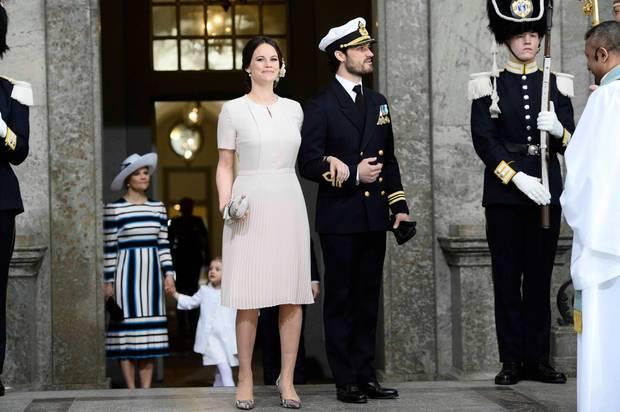 30. April 2016: Te Deum  Toller Auftrit von Prinzessin Sofia und Ehemann Prinz Carl Philip. Die beiden sind seit 19. April Eltern eines Sohnes.