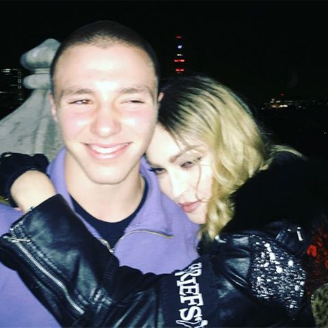 Madonna mit ihrem Sohn Rocco.