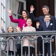 Prinzessin Mary, Prinz Frederik und ihre Kinder Josephine, Isabella und Christian