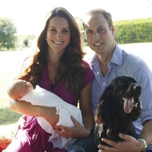 Herzogin Catherine, Prinz William und Familienhund Lupo