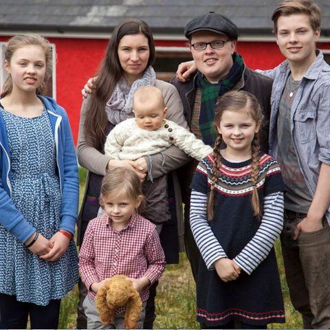 Angelo Kelly mit seiner Familie.