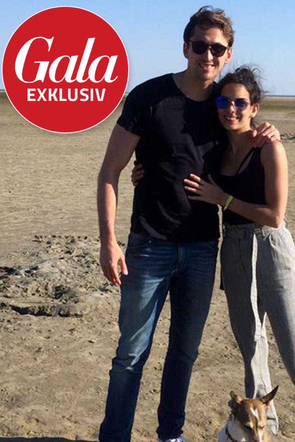 Fußballer René Adler mit Freundin Lilli Hollunder