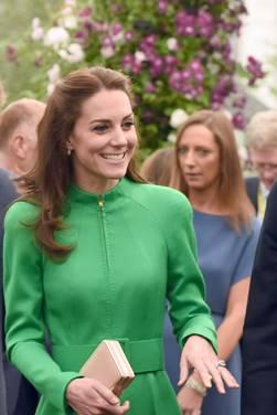 Herzogin Catherine, Prinz William und Prinz Harry auf der Chelsea Flower Show in London