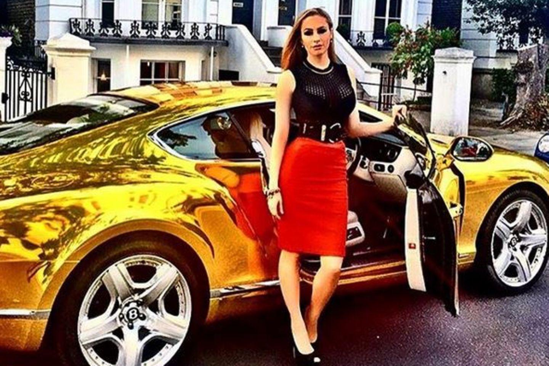 Vergoldeter Bentley
